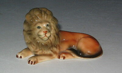 Vintage Lying Down Lion Figurine