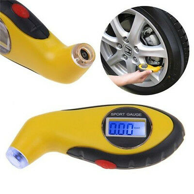 New LCD Digital Car Motorcycle Tire Tyre Air Pressure Gauge Tester Tool For Auto