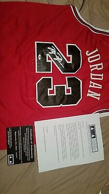 michael jordan signed jersey with authentication certificate