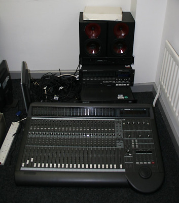 Mackie D8B studio controller and HDR 24/96