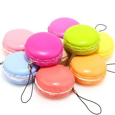 Squeeze Squishy Scented Mini Macaron Slow Rising Stretch Toy Phone Chain Strap