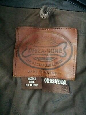 Driza-Bone Grosvenor Chocolate / tan /brown heavy Weight coat  XXL
