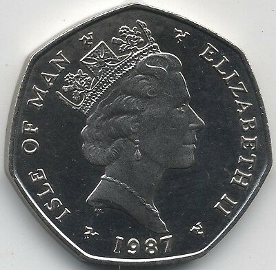 1987 Isle Of Man Proof Christmas 50p***Collectors***