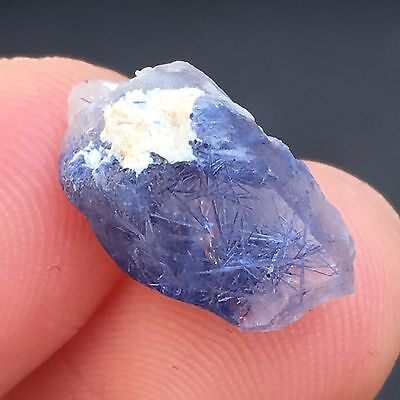 TOP 7.1Ct Very Rare NATURAL Clear Beautiful Blue Dumortierite Crystal Specimen
