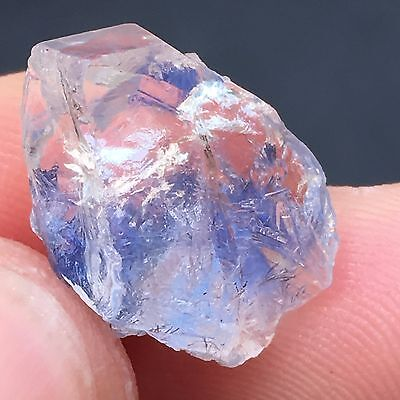 TOP 10.6Ct Very Rare NATURAL Clear Beautiful Blue Dumortierite Crystal Specimen