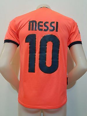 Maglia Shirt Calcio Barcellona Messi N.10 Tg.m Soccer Fluo Jersey Football S444