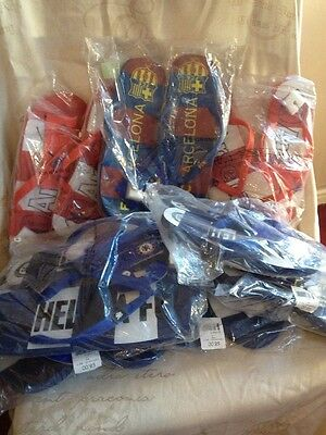 8 X Pairs Of Adult Football Flip Flops , Mixed Sizes
