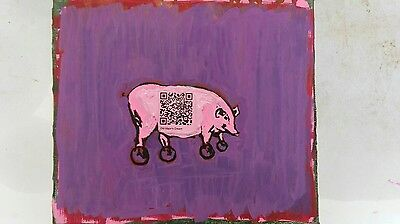 Domestic Pig with QR code