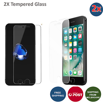2X Anti Scratch Tempered Glass Screen Protector for iPhone 8 8 Plus 7 7+ X 6S 5