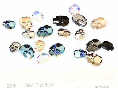 Genuine SWAROVSKI 2856 Skull Flat Backs No Hotfix Crystals * Many Colors