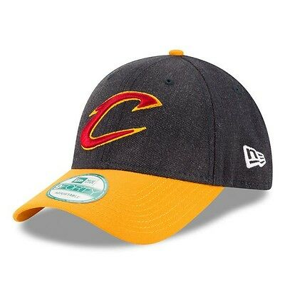 Cleveland Cavaliers New Era 9Forty The League Adjustable Cap,Heather Grey/Gold