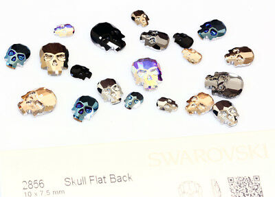 Genuine SWAROVSKI 2856 Skull Flat Backs Hotfix Crystals * Many Colors