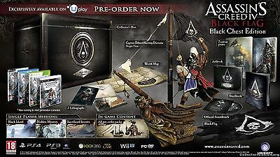 Brand New Ps3 Assassins Creed Iv Black Flag  Black Chest Collectors Edition