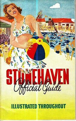 Stonehaven Official Guide Aberdeenshire Scotland Booklet Old Ads