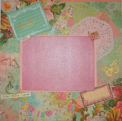 Handmade Scrapbook page - Friends are the Sunshine of Life