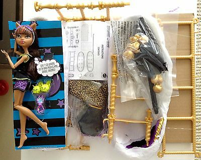 Monster High Doll Clawdeen Wolf Dead Tired Bunk Bed Set