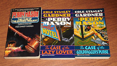 Perry Mason paperbacks by Erle Stanley Gardner lot of 3