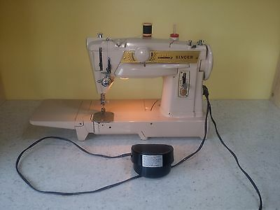 Vintage Singer 431 Convertable Slant-o-matic Embroidery Stitches Sewing Machine
