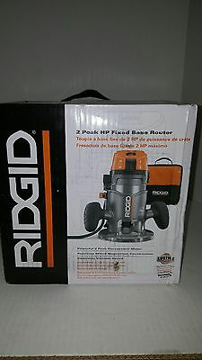 Ridgid 2 HP 11 Amp Corded Electronic Variable Speed Fixed Base Wood Router Tool