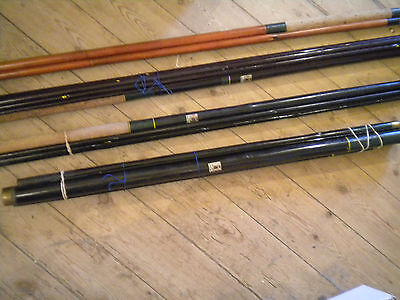 Collection of Vintage split cane fishing rods Cormery Séchet 1950s French
