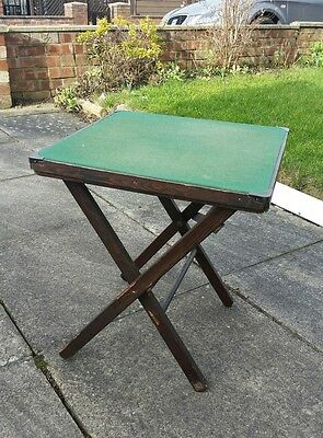 vintage small foldable card table