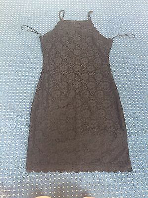 Black Lace Bodycon Going Out Dress - NEW LOOK SIZE 10
