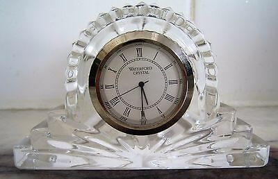 Waterford: Cottage Mantel Hand Cut Crystal Clock Quartz Handmade in Ireland