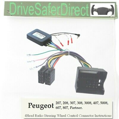 CANbuz-SWC-6010-01 Steering Wheel Control for ISO Radio/Peugeot 207 06-12