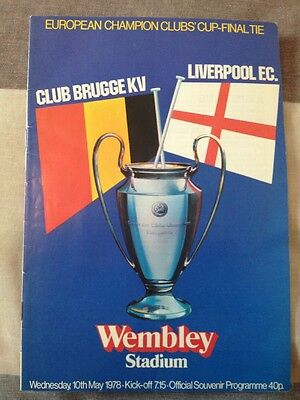 """Club Brugge KV vs Liverpool. Euro Cup-Final Tie Wednesday 10th May 1978, """"MINT"""""""