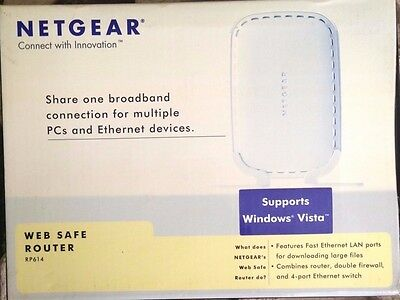 BRAND NEW Netgear RP614 Web Safe Router with 4-Port 10/100 Mbps Switch