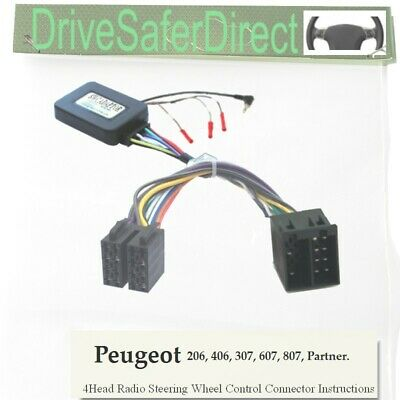 ANAlogz-SWC-6011-02 Stalk Adaptor for Android ISO Radio/Peugeot 307 ,607 02-04