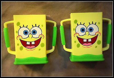 SpongeBob Juice Box Holders-Two Holders-SpongeBob Squarepants