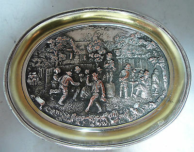 Antique Electroplated Silver On Copper DIsh By Elkington 8.6cm x 11.4cm A595017