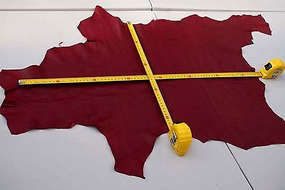Burgundy Lambskin remnant/piece Garment Lamb leather off-cut Soft pliable