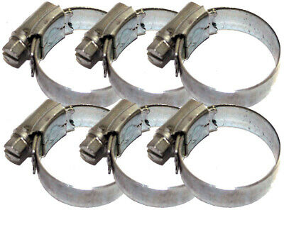 Pack of 6 Rotax Max / X30 Radiator Hose Jubilee Clips Best Price