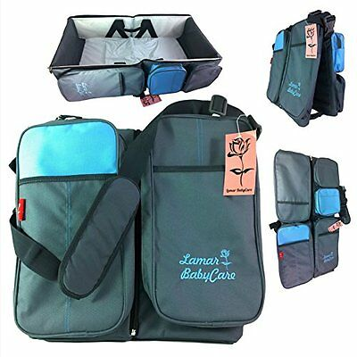 LamarBabyCare - 3 in 1 diaper bag Waterproof diaper Travel Bassinet Baby Bag