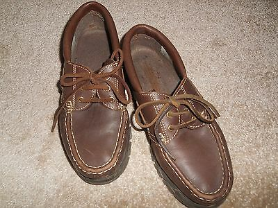 Mens Brown/tan Leather Loafhs Casual/smart Sz 10