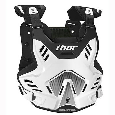 NEW THOR RACING SENTINEL GP Adult Body Armour WHITE Chest Protector Motocross