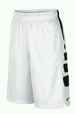 $30 Nike Boys Elite Stripe Basketball Shorts  White/black Size Xl (16)