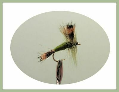 Wulff Mayflies Size 10 12 x  White Olive /& Grey Wulff Trout Flies Spring Fly