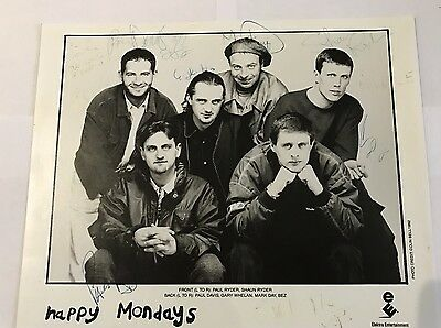 Happy Mondays signed Photo All Band Members 1992!!