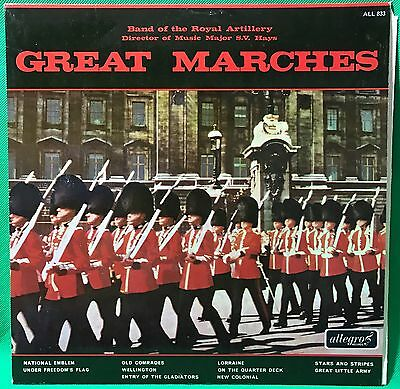 The Royal Artillery Vinyl Record LP Military Great Marches