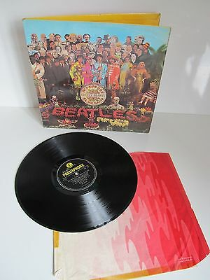 The Beatles * Sgt Peppers Lonely Hearts * 1967 Uk *wide Spine* Lp  Pmc 7027