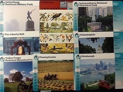 Story of America Cards Pennsylvania....Lot of 8 Cards!!!