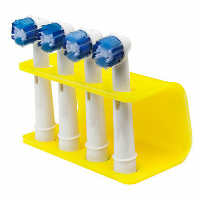 Yellow Electric Toothbrush Head Holder, fits Oral B Toothbrush Heads, by Seemii