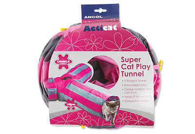 CAT TUNNEL Ancol Y Shaped Super Cat Play Tunnel