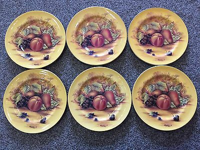 aynsley orchard gold 6 Sweet Plates 8.25inch