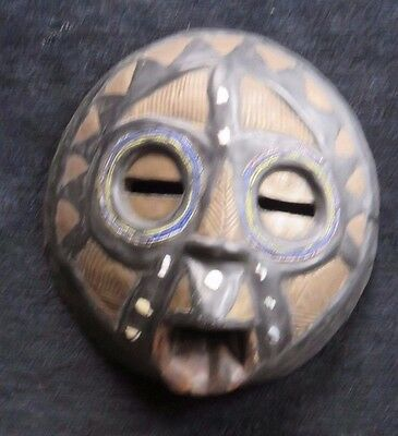 African Mask Carved Wood Ghana Small