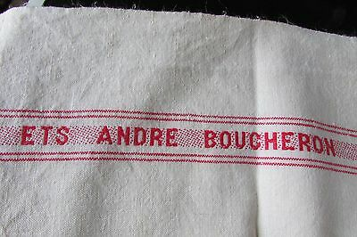 Long Length Vintage French Metis Linen Torchon Towel Fabric Andre Boucheron #1