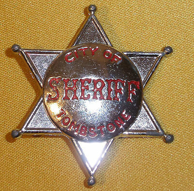 Vintage City of Tombstone Sheriff Badge